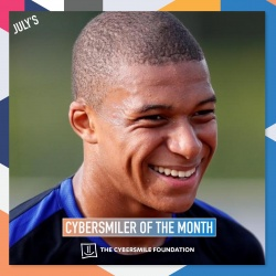 Kylian Mbeppe Cybersmiler of the Month