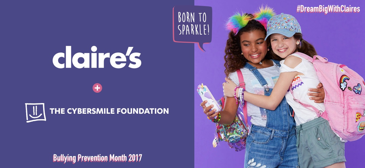 Claire's-Cybersmile-partnership