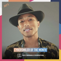Pharrell Williams Wins Cybersmile Award.