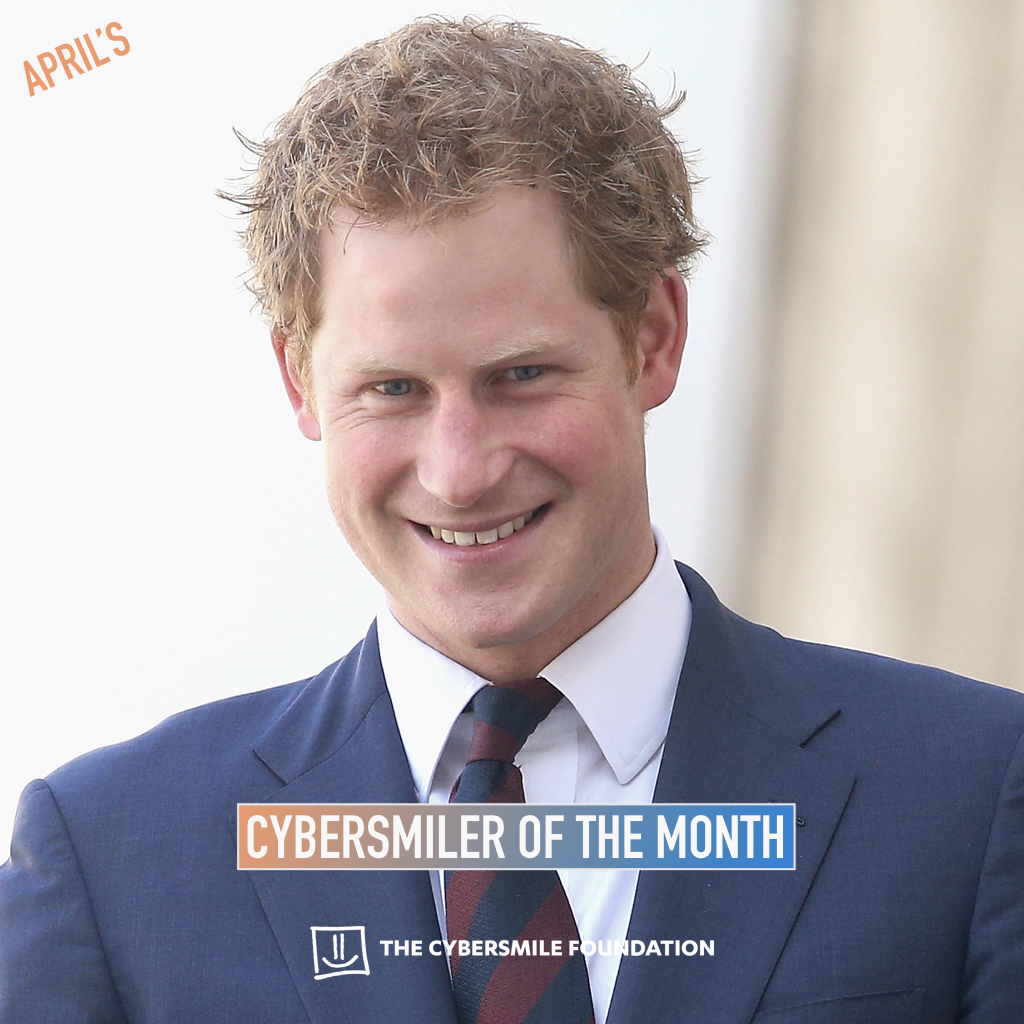 Prince Harry Announced As Cybersmiler Of The Month Award