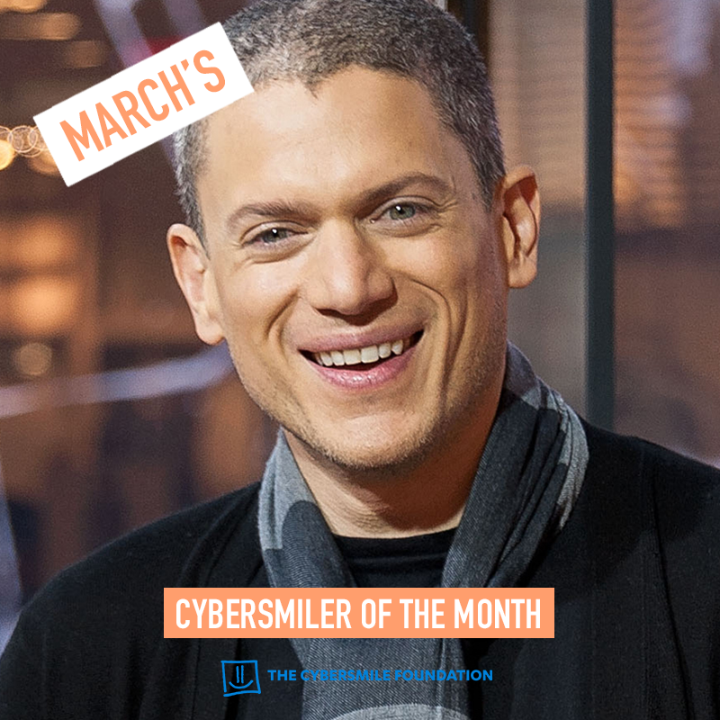 Wentworth Miller Named As Cybersmiler Of The Month For